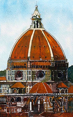 Florence Cathedral Art Print by David Carlson