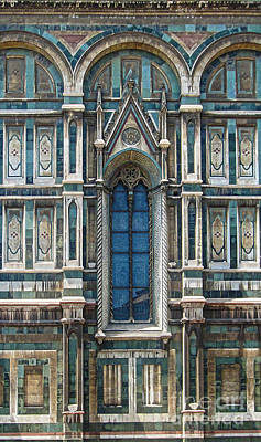 Photograph - Florence Italy - Duomo Stained Glass by Gregory Dyer