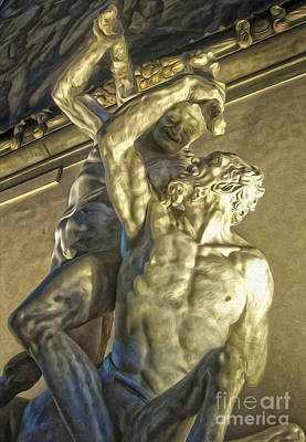 Painting - Florence Italy - Hercules Beating The Centaur Nessus by Gregory Dyer