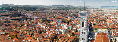 Florence Italy - Panorama -02 Art Print by Gregory Dyer