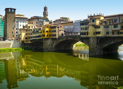 Photograph - Florence Italy - Ponte Vecchio - 05 by Gregory Dyer