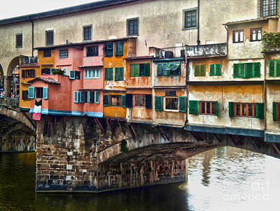 Photograph - Florence Italy - Ponte Vecchio by Gregory Dyer