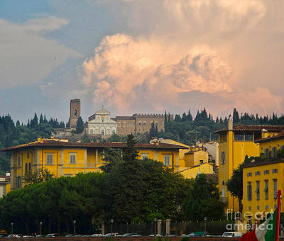 Florence Italy - San Miniato Al Monte Art Print by Gregory Dyer
