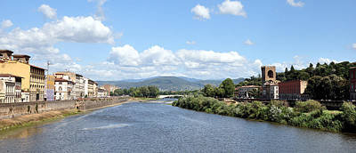 Photograph - Florence Italy Arno River by Allan Rothman