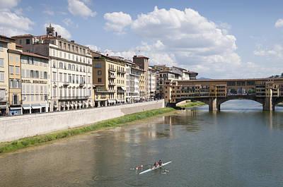 Photograph - Florence Italy Arno River Ponte Veccio Bridge by Matthias Hauser