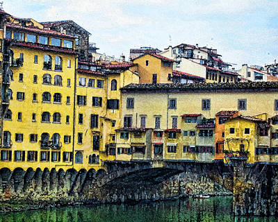 Photograph - Florence Italy by Peggie Strachan