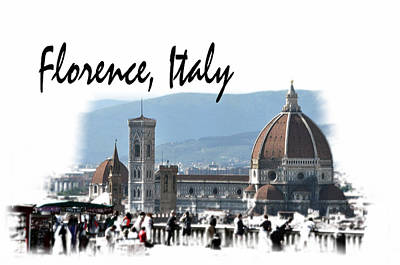 Photograph - Florence Italy Postcard by Allan Rothman