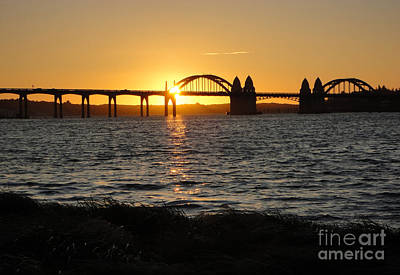 Photograph - Florence Oregon - Art Deco Bridge At Sunset by Gregory Dyer