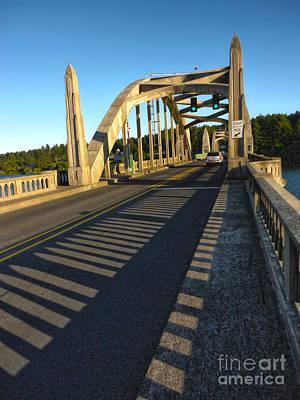 Florence Oregon - Art Deco Bridge Art Print by Gregory Dyer