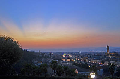 Florence Sunset Art Print by La Dolce Vita