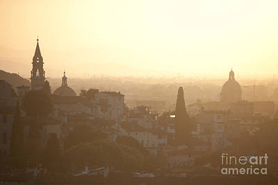 Florentine Sunset Art Print by Steven Gray
