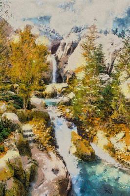 Manatee Co Photograph - Florida Fall - Digital Painting by Nicholas Evans