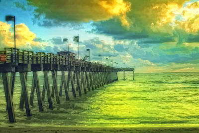 Photograph - Florida Fishing Pier by Gina Cormier