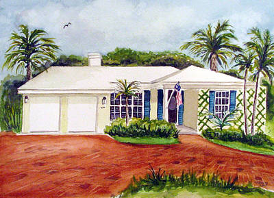 Painting - Florida House by Clara Sue Beym