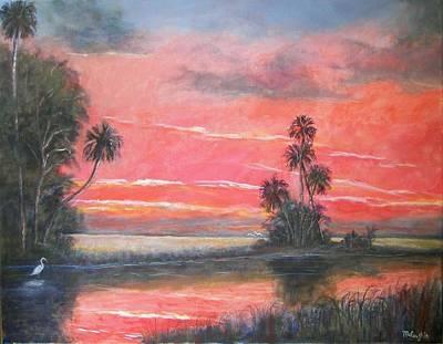 Florida River Scene Art Print by Mike McCaughin