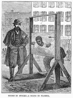 Florida: Stocks, 1866 Print by Granger