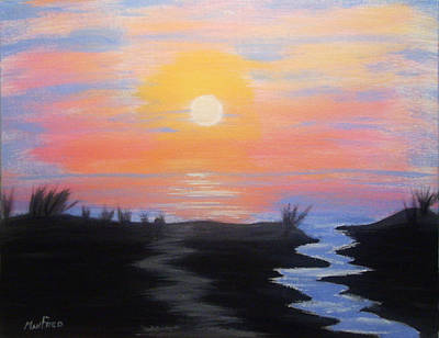 Acrylic Painting - Florida Sunrise by Manfred Schaefer
