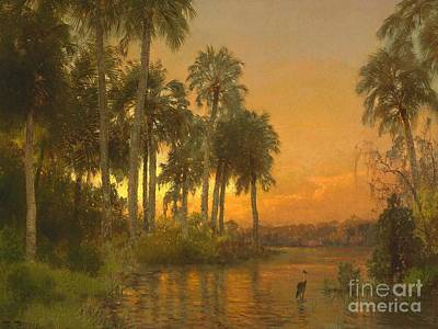 Painting - Florida Sunset by Pg Reproductions