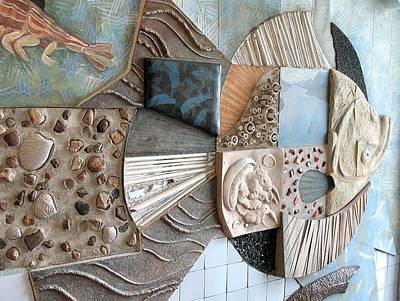 Ichtiology Sculpture - Flounder. Kindergarten Interior. 1988 by Yuri Yudaev-Racei