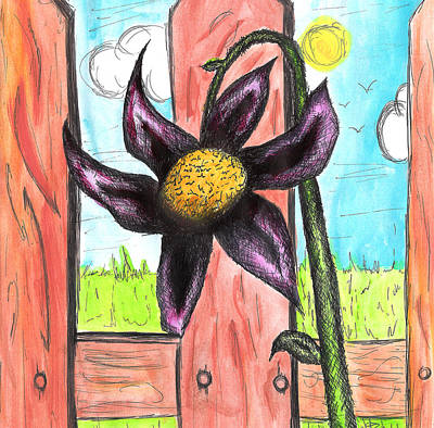 Toon Drawing - Flower 13th by Jera Sky