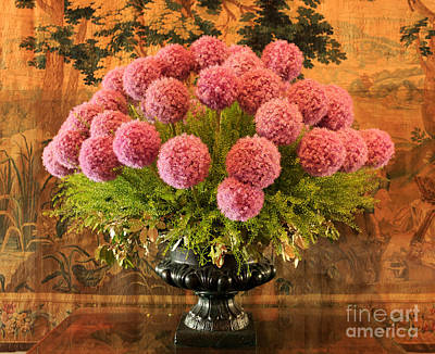 Flower Photograph - Flower Arrangement Chateau Chenonceau by Louise Heusinkveld