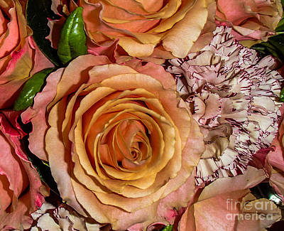 Photograph - Flower Arrangement In Pink 2 by Michael Canning