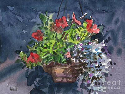 Painting - Flower Basket by Donald Maier