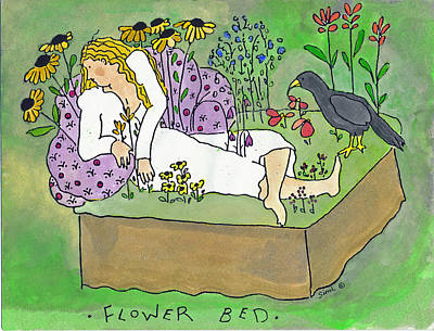 Painting - Flower Bed by Simi Berman