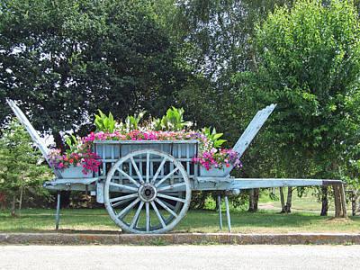 Flower Cart Normandy France Art Print