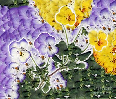 Blue Flowers Digital Art - Flower Collage by Dustin K Ryan