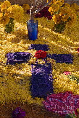 Photograph - Flower Cross - Day Of The Dead by Craig Lovell