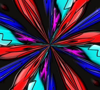 Flower Daze Nights Art Print by Alec Drake