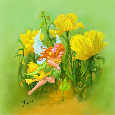 Flower Fairy Art Print