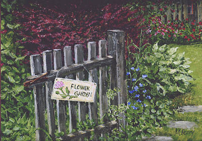 Painting - Flower Garden At Fell's by Margie Perry