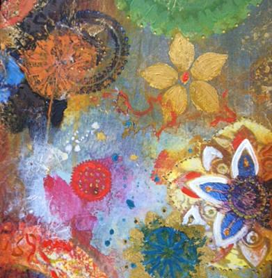 Flower Garden Art Print by Elizabeth Coats