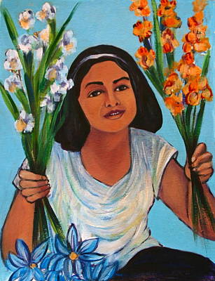 Painting - Flower Girl-day Of The Dead by Susan Santiago
