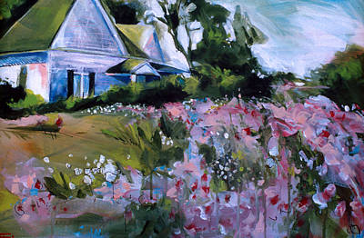 Painting - Flower House by John Jr Gholson