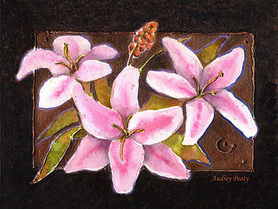 Painting - Flower Icon by Audrey Peaty