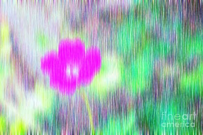 Rain Digital Art - Flower In The Rain by Silvia Ganora