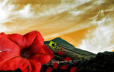 Flower In The Wind Original by Chris Bhulai