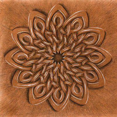 Celtic Knot Painting - Flower Mandala by Hakon Soreide
