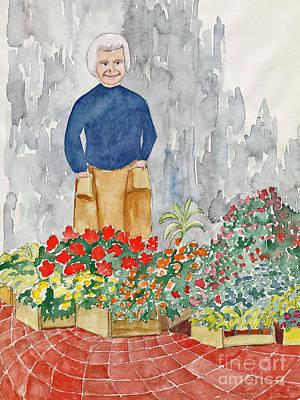Flower Market France Art Print by Fred Jinkins