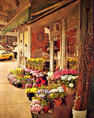 Flower Market Art Print by Kathy Jennings