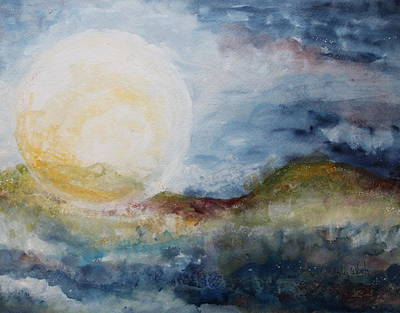 Painting - Flower Moon by Lesley Atlansky