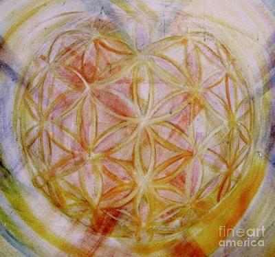 Painting - Flower Of Life Holgram Of Love by Teresa Dunwell