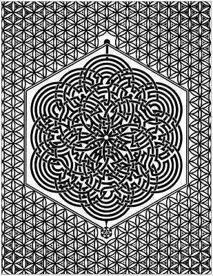 Flower Of Life Labyrinth Original by Raul Castellar