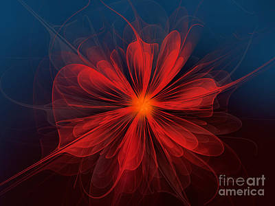 Digital Art - Flower Of Love by Jutta Maria Pusl