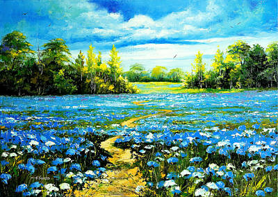 Flower Path Way Art Print by Nelsons