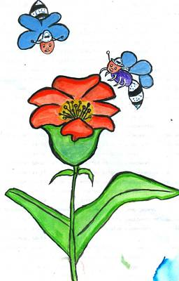 Painting - Flower by Poornima M