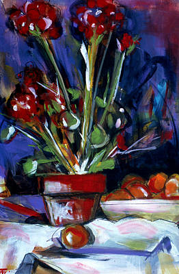 Painting - Flower Pot by John Jr Gholson
